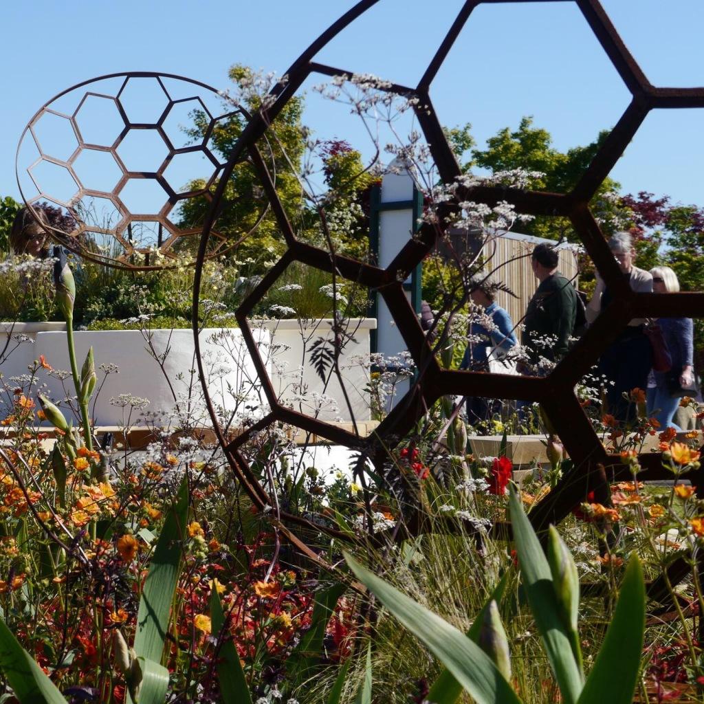 RHS show garden celebrating telescopes.